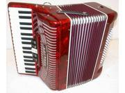Hohner Hohnica Piano Accordion 1305, RED, 34 Keys 72 Bass, Case & Straps, NEW