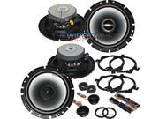 "Alpine 6.5"" 2-Way 960 Watt Car Audio Coaxial Component Speaker (2 pairs) 960W"