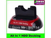 "2.5"" 3.5"" SATA / IDE 2 Double - Dock HDD Docking Station e- SATA / Hub External Storage Enclosure Parts Free Shipping+Retail Box style:WLX-875 J"