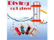 Free Shipping! 4GB Swimming Diving Water IP*8 Waterproof MP3 Player FM Radio Earphone black Wholesales