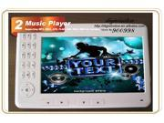 E-book Reader 7'' 720P TFT Screen with 4GB Built-in + Micro SD/TF Card Extension Multi-function ebook reader MP3 Phote Video White color