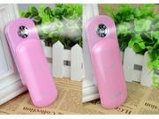 iBeauty Nano Skin Handy Mist Atomization Facial Humectant Steamer Ionic Sprayer Mini Moisturizing Beauty Equipment  Pink