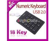 Mini USB 18 Key Numeric Silicone Keypad Keyboard Laptop