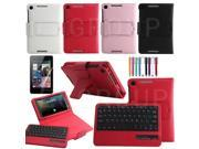 2014 New Removable Bluetooth Keyboard Case Cover For New 2013 Google Nexus 7 FHD 2nd Gen White / Black / Red / Pink
