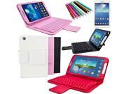 2014 New Wireless Bluetooth Keyboard Case Cover For Samsung Galaxy Tab 3 8.0 T311/T310 Black / Pink / Red / White