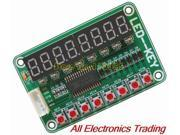 2PCS Button digital control module LED display module (8 digital tube +8 LED +8