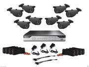 WennoW Zmodo 8Ch No HDD 960H Security DVR & QR-Code Remote Access w/ 8 x 800TVL Cameras