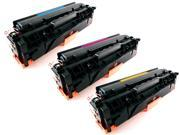 3-Pack Compatible C / Y / M Toner Cartridges for HP 305A, CE411A, CE412A, CE413A&#59; HP LaserJet Pro 300 Color MFP M375nw&#59; HP LaserJet Pro 400 Color M451dn, M451dw, MFP M451nw, MFP M475dn, MFP M475dw