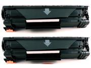 2-Pack Compatible Canon 125, 3484B001, 3484B001AA, CRG-125 Toner Cartridge for Canon ImageClass LBP6000, LBP6030w, LBP6300dn, LBP6650dn, MF3010 Printers