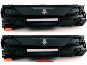 2-Pack Compatible HP 85A, CE285A Toner Cartridge for HP LaserJet Pro M1132, M1212nf, M1217nfw MFP, P1102, P1102W Printers