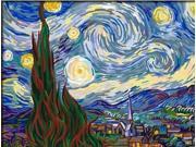 "DiyOilPaintings Paint By Numbers Kits, Starry Night, Origin Paintings By Van Gogh Paint By Number Kits, 16""x20"""