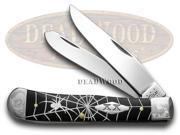 CASE XX Spider Web Black Delrin 1/500 Trapper Pocket Knife Knives