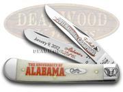 CASE XX 2011 Alabama National Football Champions Natural Bone Trapper Knives