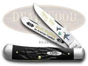 CASE XX Rough Black Delrin Duck Hunting 1/600 Trapper Pocket Knife Knives
