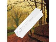 2000mAh External Rechargeable Portable Backup Battery Pack Charger Power Bank For Google Nexus One, 4, 5, 7, 10, Nexus S - White