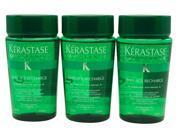 Kerastase Bain Age Recharge Shampoo 3.4 oz ea Set of Three Travel Size Bottles