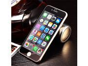 Ultra-thin 9H Design High Transparency Colorful Electroplate LCD Tempered Glass Screen Protector for iPhone 6P -Black