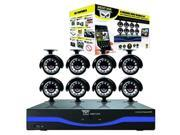 Night Owl Optics - L-85-8511 - Night Owl 8 Channel 960H DVR with HDMI, 500 GB HDD and 8 x 480 TVL Cameras (30ft NV) -
