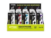 TDK - TDK62228 - TDK Life on Record SP80 Smartphone Active Headphones - Stereo - Wired - Earbud - Binaural - In-ear -
