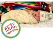 Bon Vivant Baby Tortilla Baby Newborn Swaddle Blanket & Matching Hat Set - TORTILLA-BABY