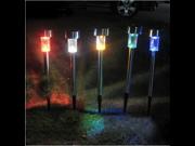Outdoor Garden LED Solar Spot Flood Landscape Light Path Lamp Blue