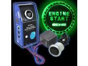 Auto Green LED Car Engine Start Push Button Ignition Starter Switch Kit Universal 12V auto start