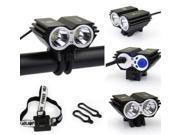 5000 Lumens CREE XM-L 2x U2 LED Bicycle Bike HeadLight Headlamp Head Lamp Light 3 Modes