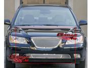 Fits 09-10 Hyundai Sonata Mesh Grille Grill Upper+Bumper insert