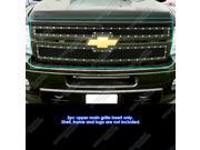 2011-2014 Chevy Silverado 2500HD/3500HD Black Rivet Studded Mesh Grille Grill    # CL6831H