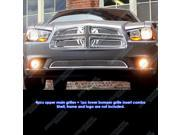 Fits 2011-2014 Dodge Charger Symbolic Stainless Steel Mesh Grille Grill Combo # D71108B