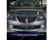 08-09 Pontiac G8 Black Billet Grille Grill Combo Incert