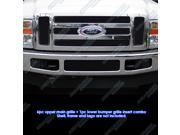 2008-2010 Ford F250/F350/F450 Black Stainless Steel Mesh Grille Grill Insert