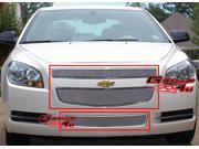 08-12 2011 2012 Chevy Malibu Stainless Mesh Grille Grill Combo insert