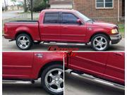 01-03 Ford F150 Supercrew 4Dr S/S Side Step Nerf Bars Running Boards
