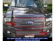 Fits 2007-2013 Ford Expedition Vertical Billet Grille Grill Insert Combo # F67832V