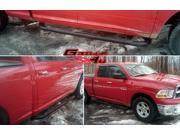 Fits 2009-2014 Dodge Ram 1500 Quad Cab Black Side Step Nerf Bars