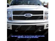 2009-2011 Ford F-150 Platinum Black Billet Grille Grill Combo Insert