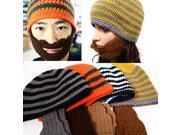 Men Women Knit Beard Beanie Mustache Mask Face Warmer Ski Bike Winter Hat Cap Head wear