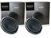 "2 Sony XS-GS120LD 12"" Dual 4 Ohm Car Subwoofers Subs 2000W Pair XSGS120LD X2"