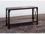 Sunny Designs Crosswinds Sofa Table In Weathered Mocha