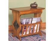 Sunny Designs Sedona Magazine Table In Rustic Oak