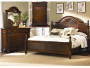 Liberty Furniture Royal Landing Poster Bed & Dresser & Mirror & Chest in Tobacco Finish