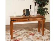 Sunny Designs 3160RO-S Sedona Sofa Console Table In Rustic Oak
