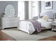 Liberty Arielle Youth Panel Bed Three Piece Bedroom Set In Antique White