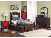 Liberty Furniture Abbott Ridge Panel Bed & Dresser & Mirror in Cinnamon Finish