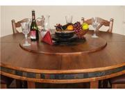 Sunny Designs Sedona 60 Inch Round Table with Lazy Susan In Rustic Oak