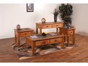 Sunny Designs 3144RO Sedona End Table In Rustic Oak