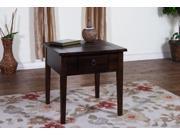 Sunny Designs 3176DC-E Santa Fe End Table In Dark Chocolate