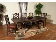 Sunny Designs Santa Fe Collection Six Piece Dining Set with Double Butterfly Leaf Table