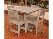 Eagle One 5 Piece Cafe Square Table Dining Set In Driftwood